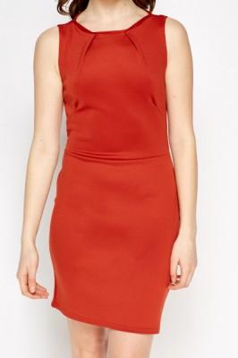 Bodycon Basic Dress L / Seide / Rot